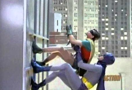 Rock Climbing Photo: Batman!