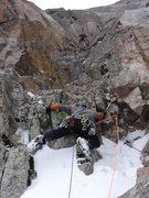 Rock Climbing Photo: Steve Hobbs on the first pitch of Plan D.