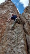 "Rock Climbing Photo: ""now where is the left hold""? Eric on th..."