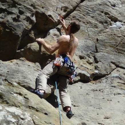 Clipping on Ohio Climbing