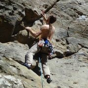 Rock Climbing Photo: Clipping on Ohio Climbing