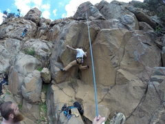 "Rock Climbing Photo: playing at the bottom of ""as the crow flies&q..."