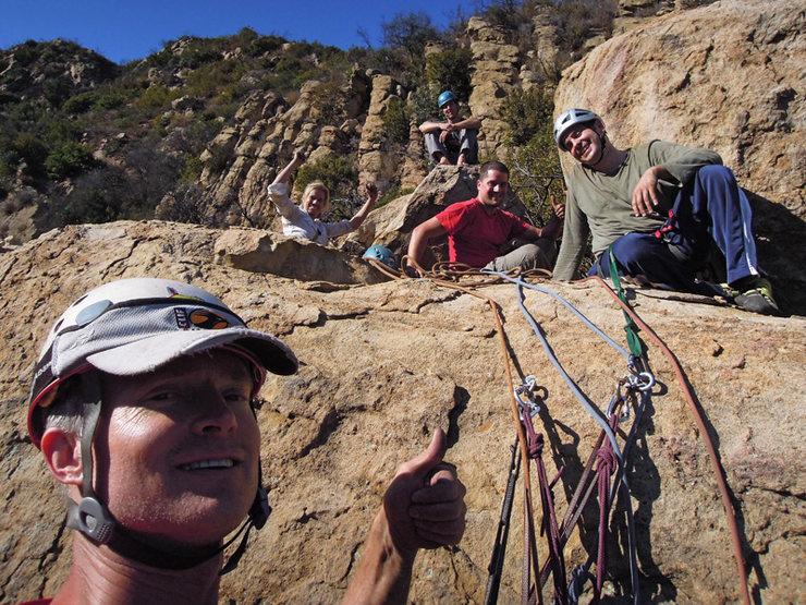 Rock Climbing Photo: Almost a party. (Note lack of beer.)