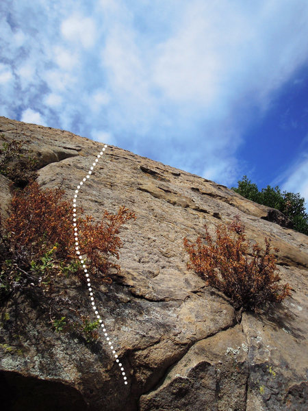 "Rock Climbing Photo: Follow this line to finish ""Hang On, Kid&quot..."