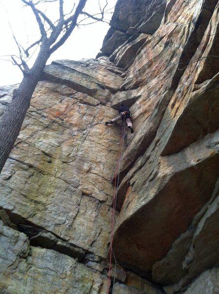 Rock Climbing Photo: Under the crux