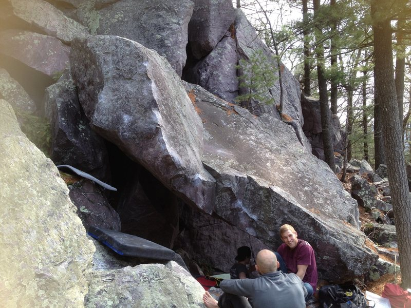 Rock Climbing Photo: Just the Tip starts at the base of the scoop featu...