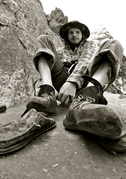 Rock Climbing Photo: first time of the year putting the hurt on feet