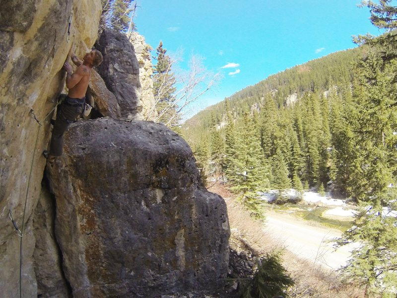 Rock Climbing Photo: Jamie Coin gets Goose Bump, 5.12d