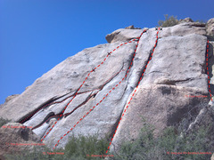 Rock Climbing Photo: The main portion of the Sleeping Cactus Wall
