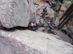Rock Climbing Photo: Alex warms his hands