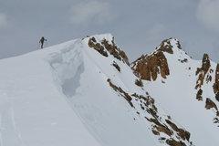 Rock Climbing Photo: Ridge to summit of Citadel.
