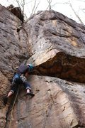Rock Climbing Photo: At the mini-bulge thats probably closest thing to ...