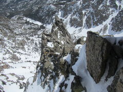 Rock Climbing Photo: Chamonix or RMNP?  Martin moving across airy trave...