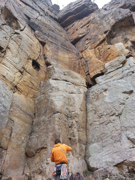 Rock Climbing Photo: From the bottom of the climb.