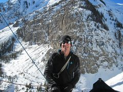 Rock Climbing Photo: James at the start of Stairway to Heaven near Silv...