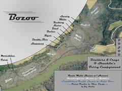 Rock Climbing Photo: Topo of Established Bozoo Areas Found on MP.