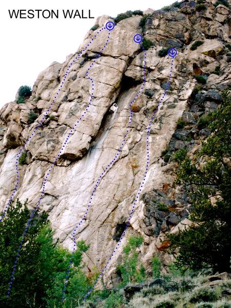 Rock Climbing Photo: Southeast-facing Weston Wall.