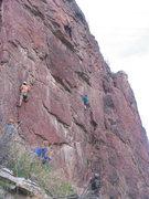 Rock Climbing Photo: Collin, Joe and Megan on the rock for 4-20.