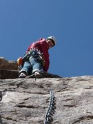 Rock Climbing Photo: headed up a pitch in the dona ana mountains new me...