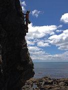 Rock Climbing Photo: JB on Diagonal Direct