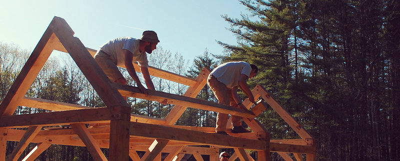 Timber framing.