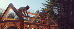 Rock Climbing Photo: Timber framing.