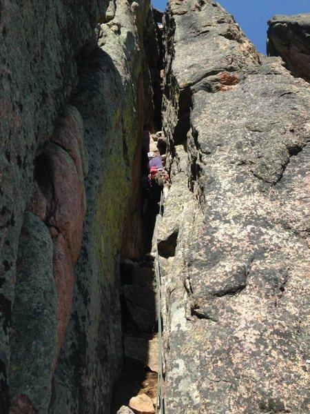Rock Climbing Photo: 2nd pitch of skyline arete