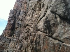 Rock Climbing Photo: The classic traverse pitch.
