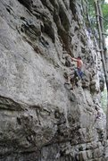 Rock Climbing Photo: body hammer, lilly bluff, Obed, TN
