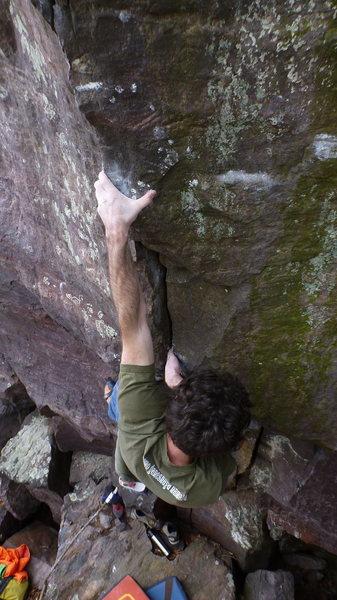 Rock Climbing Photo: Ian on the pinch.
