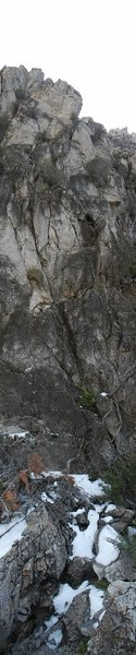 Rock Climbing Photo: View of where the first pitch starts and the first...