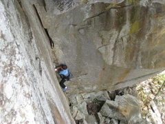 Rock Climbing Photo: Cruising up the classic corner crack of Whom the B...