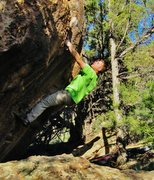 Rock Climbing Photo: Staring down the sharp left hand edge on Silent Sh...