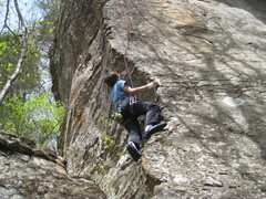 Rock Climbing Photo: Matt riding the arête.