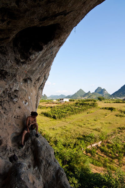 "Rock Climbing Photo: Marcelo chilling at the ""base"" of the ro..."