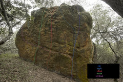 Rock Climbing Photo: Lines by color