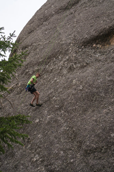 Repelling down two easy for hard men