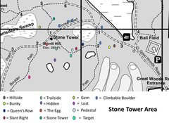 Rock Climbing Photo: Boulder locations around Stone Tower.