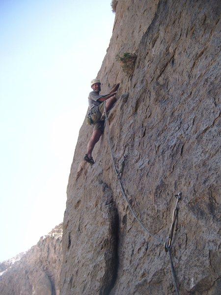 Rock Climbing Photo: Howland en route. C. Rein photo