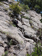 """Rock Climbing Photo: Alex Lau finding the line on the FA of """"The S..."""