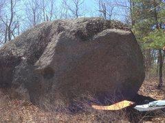 Rock Climbing Photo: Backside of this nice boulder.