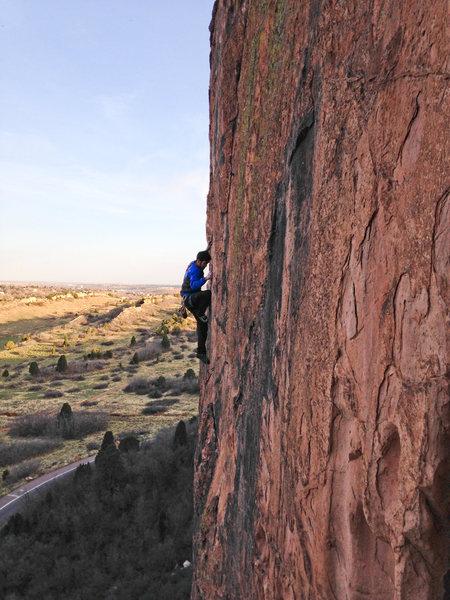 Rock Climbing Photo: 1st crux.