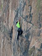 Rock Climbing Photo: Entering the 1st crux.