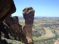 Rock Climbing Photo: Monkey Face. Smith Rock, OR