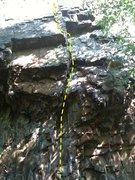 Rock Climbing Photo: Start of Fool's Mate