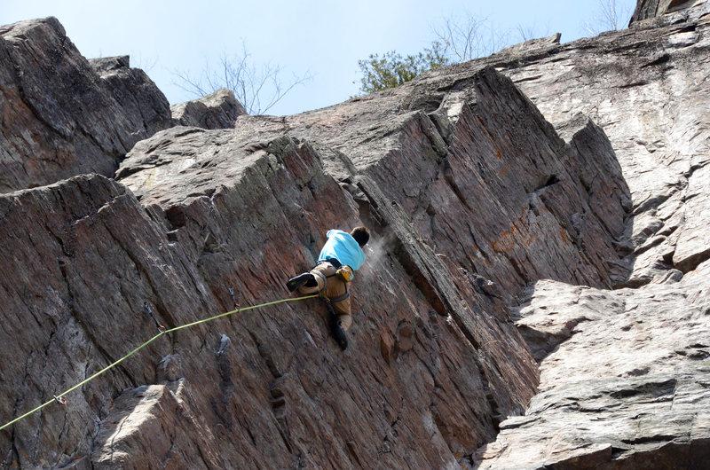 Rock Climbing Photo: Gregor Lucic in action.