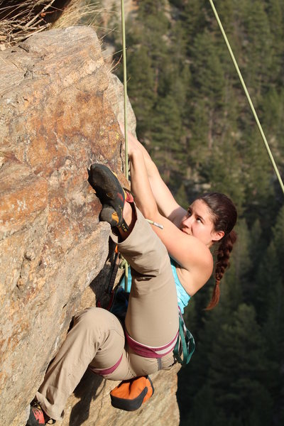 A heel hook is a great option for taking the most direct route at the opening move.