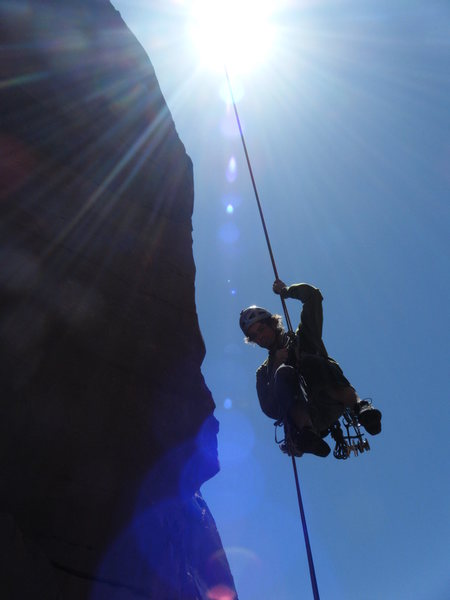 Rock Climbing Photo: You Rappel off of the Sun