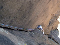 Rock Climbing Photo: Mandy Smith on the fun 5.10 first pitch of Endgame...