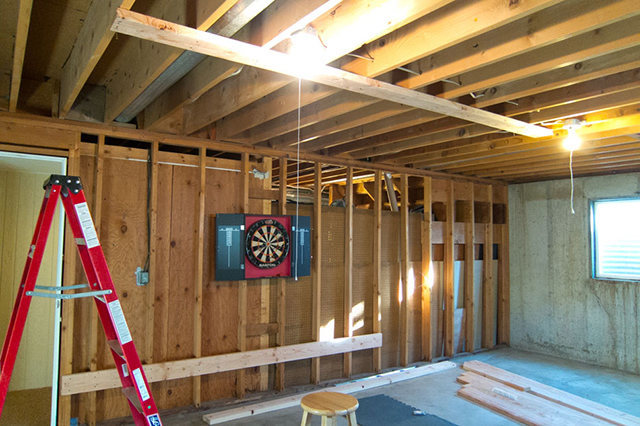 Rock Climbing Photo: Top and bottom header joists installed